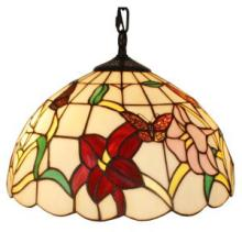 TIFFANY STYLE FLORAL HANGING LAMP 14 INCHES #10176v3