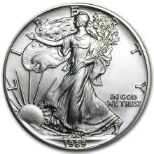 1989 1 oz Silver American Eagle BU #21396v3
