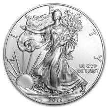 2012 1 oz Silver American Eagle BU #21384v3