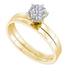 10KT Yellow Gold .15CTW ROUND DIAMOND BRIDAL SET #52846v2