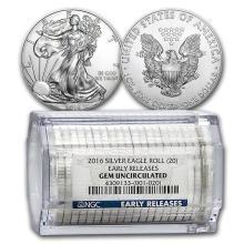 2016 20-Coin Silver American Eagle Sealed Tube NGC (ER) #21413v3