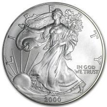 2000 1 oz Silver American Eagle BU #21403v3