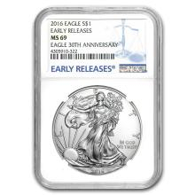 2016 Silver American Eagle MS-69 NGC (Early Releases) #21382v3