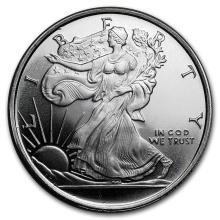 1/2 oz Silver Round - Walking Liberty #21648v3