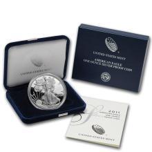 2015-W 1 oz Proof Silver American Eagle (w/Box & COA) #21405v3