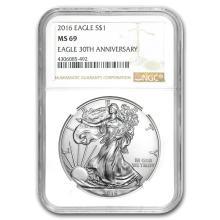 2016 Silver American Eagle MS-69 NGC #21385v3