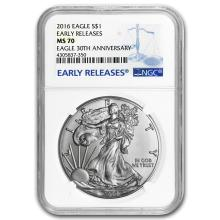 2016 Silver American Eagle MS-70 NGC (Early Releases) #21380v3