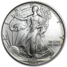 1992 1 oz Silver American Eagle BU #21409v3