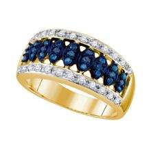 10KT Yellow Gold 0.51CTW BLUE DIAMOND FASHION BAND #53952v2
