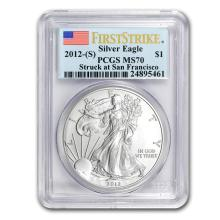 2012 (S) Silver American Eagle MS-70 PCGS (First Strike) #21412v3