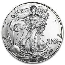 2005 1 oz Silver American Eagle BU #21392v3
