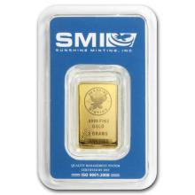 5 gram Gold Bar - Sunshine Minting New Design (In TEP Packaging) #22449v3