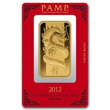 100 gram Gold Bar - PAMP Suisse Year of the Dragon (In Assay) #22486v3