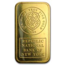 1 oz Gold Bar - Johnson Matthey (RNB, w/Assay Card) #22520v3
