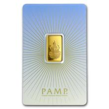 5 gram Gold Bar - PAMP Suisse Religious Series (Lakshmi) #22470v3