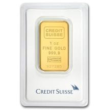 1 oz Gold Bar - Credit Suisse (In Assay) #22372v3