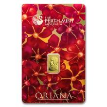 1 gram Gold Bar - Perth Mint Oriana Design (In Assay) #22380v3