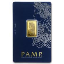 5 gram Gold Bar - PAMP Suisse Lady Fortuna Veriscan (In Assay) #22381v3