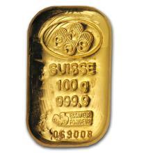 100 gram Gold Bar - Secondary Market #22447v3