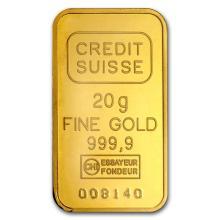 20 gram Gold Bar - Credit Suisse Statue of Liberty #22407v3
