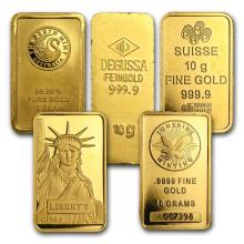 10 gram Gold Bar - Secondary Market ONELY ONE PEACE PER LOT #22413v3
