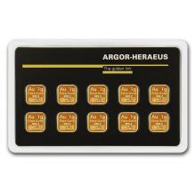 10x 1 gram Gold Bar - Argor-Heraeus (In Assay) #22446v3