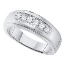 10KT White Gold 0.25CT DIAMOND FASHION MENS BAND #60671v2