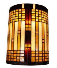 TIFFANY STYLE 2-LIGHT GEOMETRIC WALL SCONCE #10215v3