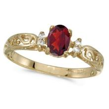 Ruby and Diamond Filigree Ring Antique Style 14k White Gold #53155v3