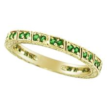 Emerald Stackable Ring Band 14k Yellow Gold by Allurez #51969v3