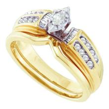 14K Yellow-gold 0.25CTW DIAMOND LADIES BRIDAL SET #52135v2