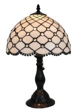 TIFFANY STYLE JEWEL TABLE LAMP 19 INCHES TALL #99486v2