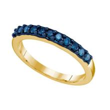 10K Yellow-gold 0.33CT BLUE DIAMOND FASHION BAND #62794v2