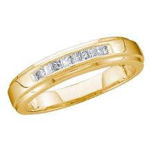 10K Yellow-gold 0.15CTW DIAMOND MEN'S INVISIBLE BAND #54386v2