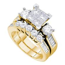 14KT Yellow Gold 2.00CTW DIAMOND INVISIBLE BRIDAL SET #55607v2