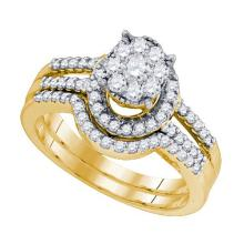 10K Yellow-gold 0.78CTW DIAMOND SEVILLE BRIDAL SET #68214v2