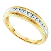 10KT Yellow Gold 0.25CTW DIAMOND FASHION BAND #53396v2