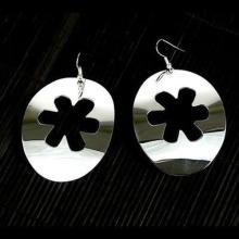 Large Silverplated Flower Cutout Earrings - Artisana #87146v2