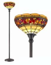 TIFFANY STYLE TORCHIERE JEWELED LAMP 71 INCHES TALL #99576v2