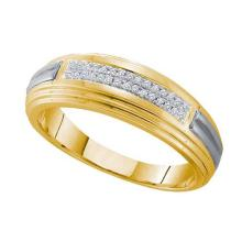 10KT Yellow Gold Two Tone 0.10CT DIAMOND FASHION BAND #68470v2