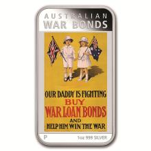 2016 Australia 1 oz Silver Posters of WWI Proof (War Bonds) #21949v3