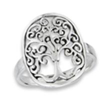 Tree Of Life Ring STERLING SILVER SIZES 5-10 #18164v3