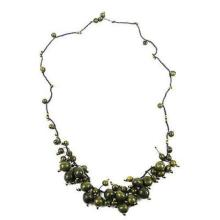 Cloud Forest Necklace in Military Green - Faire Collection #87713v2