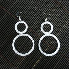 Large Silverplated Double Circle Earrings - Artisana #87151v2