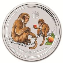 2016 Australia 1 kilo Silver Lunar Monkey (Gemstone Eye) #21720v3
