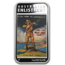 2014 Australia 1 oz Silver Posters of WWI Proof (Enlistment) #21940v3