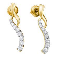 14KT Yellow Gold 0.50CTW DIAMOND JOURNEY EARRINGS #52888v2