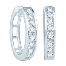 14KT White Gold 0.25CT DIAMOND FASHION HOOPS #50410v2