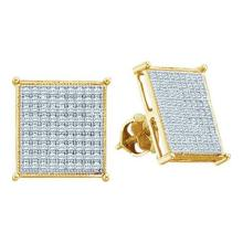 10KT Yellow Gold 0.15CTW DIAMOND LADIES MICRO PAVE EARRINGS #56955v2