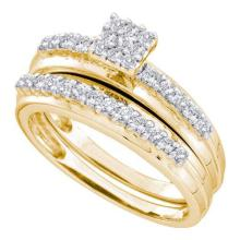 14KT Yellow Gold 0.50CTW DIAMOND FASHION BRIDAL SET #52811v2
